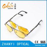Óculos de sol coloridos do metal da forma para conduzir com Lense Polaroid (3025-C1)