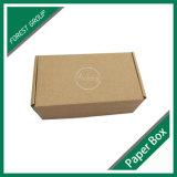 심혼 로고 인쇄를 가진 브라운 색깔 물결 모양 상자