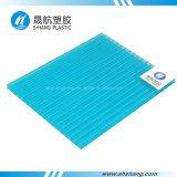 Hoja del material para techos de la PC del policarbonato de la pared del gemelo del material de construcción