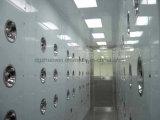 Chuveiro de ar da pessoa do equipamento da sala de limpeza com auto sopro