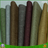 Tissu ignifuge imperméable à l'eau de rideau en arrêt total de tissu de polyester tissé par textile à la maison pour le rideau en guichet