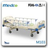 아BS 강철 의학 침대, Ce& ISO를 가진 단 하나 불안정한 손잡이 참을성 있는 수동 병상