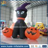Decoración inflable gigante de Víspera de Todos los Santos, calabaza inflable de la historieta para la venta