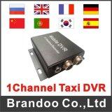 Idioma personalizado 1CH Mobile Car Camera HD DVR para táxi