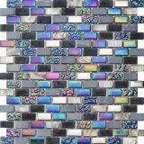 Mosaico de cristal de la tira y mosaico de mármol de la piedra para el fondo de la pared