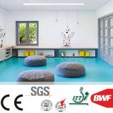 Het Geluiddempende VinylBroodje van uitstekende kwaliteit van de Vloer voor Kleuterschool 3mm Stevige Kleur