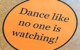 Etiquetas contemporâneas feitas sob encomenda dos decalques de Dance Floor do copo de água