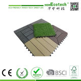 Tuiles composées en plastique en bois de patio de tuile de Decking de la terrasse WPC de tuile du Decking DIY