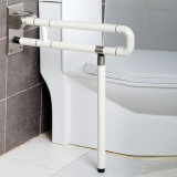 La barre de traitement pour l'enduit en nylon de garantie handicapée de toilette et la barre d'encavateur intérieure d'acier inoxydable, Plient-vers le haut le longeron d'encavateur