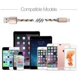 8 caractéristiques couvertes par foudre tressée en nylon des chevilles USB et câble de remplissage