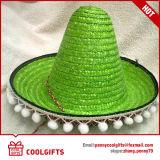 Sombrero de paja del sombrero de México del verano con POM POM