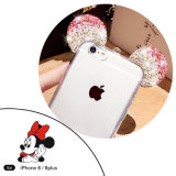 iPhone 6/6plus аргументы за сотового телефона случая ушей TPU Mickey диаманта