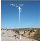 Lámpara solar del buen diseño con poste de acero