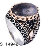 Hete fabriek Verkopend 925 Zilveren Ringen van de Mensen van de Modellen van de Ring Nieuwe met Grote Steen
