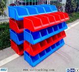 Coffres empilables en plastique d'étagère de mémoire d'entrepôt/pièces de rechange de coffres