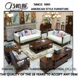 Sofà moderno del cuoio genuino di stile americano per mobilia domestica (AS845)