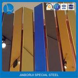 Nam het Gouden Hairline Blad van het Roestvrij staal van de Kleur toe