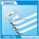 Releasable фиксируя кабель связывает связи кабеля нержавеющей стали