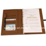 Новый изготовленный на заказ кожаный журнал дневника связывателя кольца с владельца карточки