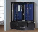 ジャクージおよびシャワー(AT-G0203)との1350mmの長方形の黒の蒸気のサウナ
