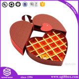 Rectángulo de papel de empaquetado del caramelo de la dimensión de una variable del corazón del chocolate del regalo