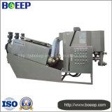 Prensa de filtro de tornillo del tratamiento de aguas residuales de la fabricación de papel
