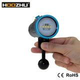 Hoozhu V13 5 색깔 가벼운 잠수 영상 가벼운 자전관 두 배 스위치 최대 2600lm LED 토치 급강하 빛 수중 120m