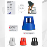 Sgabello di punto di plastica di alta qualità, sgabello di rotolamento di sicurezza della scaletta di punto