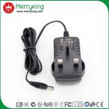 La marque de Merryking Mur-Montent l'adaptateur d'alimentation BRITANNIQUE de la fiche AC/DC d'adaptateur de 12V 1A