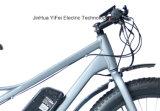 Potência grande bicicleta elétrica do pneu gordo de 26 polegadas com o cruzador da praia da bateria de lítio