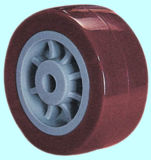 Verlegte Stamm PU-(rote) Feuergebührenfußrolle mit Bremse