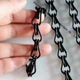 卸し売り黒二重リンクされたアルミニウム装飾的な鎖