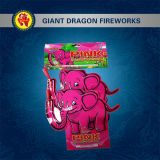 Fuegos artificiales del juguete de los fuegos artificiales del elefante rosado