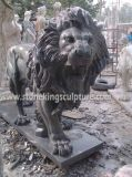 Lion, Carved Stone Lion e Marble di marmo Animals (SK-2186)