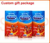 Коробка подарка Китая подгонянная изготовлением для презерватива Dulex (сексуальный упаковывать игрушки)