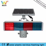 Clignotant solaire bleu rouge bon marché neuf du plastique DEL de sécurité routière