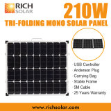 210W Tri-Faltender faltbarer Solarinstallationssatz des Sonnenkollektor-12V