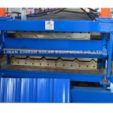 Rolo ondulado de aço das folhas da telhadura do metal que dá forma à máquina