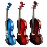 Todo o violino elétrico acústico da cor de corpo contínuo