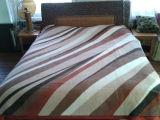 印刷のRaschelのミンクのアクリル毛布