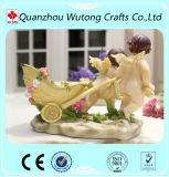 Resina do produto novo material poucos artigos do casamento da decoração do carro do anjo