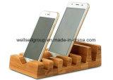 Support de chargement Bamboo Wood, support de support en bambou 6 en 1 pour iPhone / iPad Mini / iPad & All Tablet PC et téléphone mobile