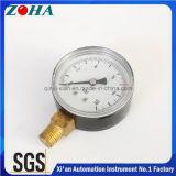 10 manómetros generales de acero del estruendo de la barra En837-1 con el conector de cobre amarillo 2 pulgadas 2.5 pulgadas