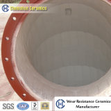 Guarniciones de cerámica de la pipa del codo del alúmina resistente a la corrosión de Chemshun