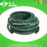 Mangueira reforçada trançada flexível plástica da tubulação do PVC para a irrigação do jardim