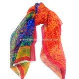 100% Chiffon- gedruckter Silk Windung-Schal (AFS10000912)