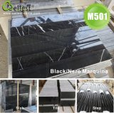 China Black Marquina Tiles Nero Marquina Marble Tiles Black Marble