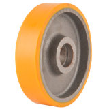Caster industrial, Pesado-deber Polyurethane Wheel con Cast Iron Center, 125-250m m