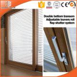 Doppia griglia chiara divisa irregolare di vetro del portello scorrevole, elevatore di alluminio della rottura termica placcata di legno solido & portello scorrevole