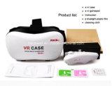Juego/película de la cartulina de Google del casco de los vidrios de la realidad virtual 3D del caso de Vr de la versión del rectángulo 2.0 de Vr de la alta calidad para 3.5-6.0 pulgadas Smartphone